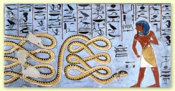 The great snake Apop ennemy of pharaoh